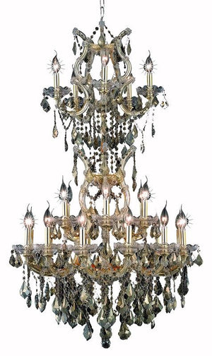 Elegant Lighting - 2800D30SG-GT/SS - 25 Light Chandelier - Maria Theresa - Gold