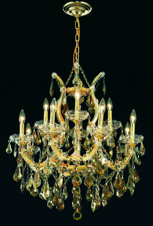 Elegant Lighting - 2801D27G-GT/RC - 13 Light Chandelier - Maria Theresa - Gold