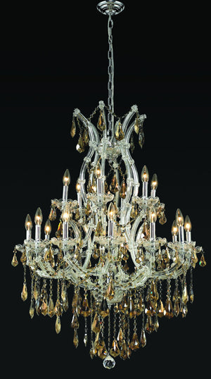 Elegant Lighting - 2801D32C-GT/RC - 19 Light Chandelier - Maria Theresa - Chrome