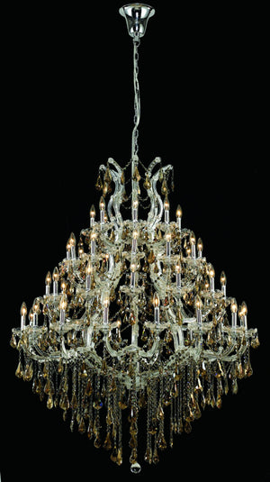 Elegant Lighting - 2801G46C-GT/SS - 49 Light Chandelier - Maria Theresa - Chrome
