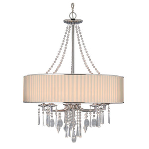 Golden - 8981-5 BRI - Five Light Chandelier - Echelon BRI - Chrome