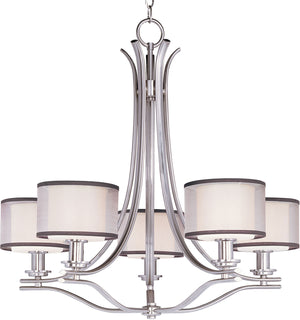 Maxim - 23035SWSN - Five Light Chandelier - Orion - Satin Nickel