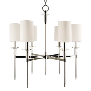 Hudson Valley - 8516-PN - Six Light Chandelier - Amherst - Polished Nickel
