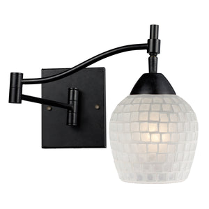 Elk Lighting - 10151/1DR-WHT - One Light Wall Sconce - Celina - Dark Rust