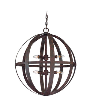 Troy Lighting - F2516WI - Six Light Pendant - Flatiron - Weathered Iron