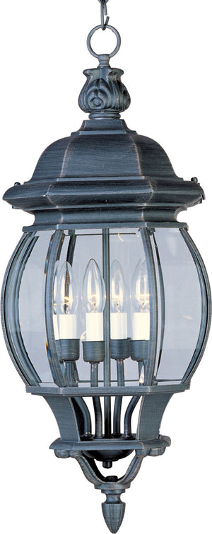 Maxim - 1039RP - Four Light Outdoor Hanging Lantern - Crown Hill - Rust Patina