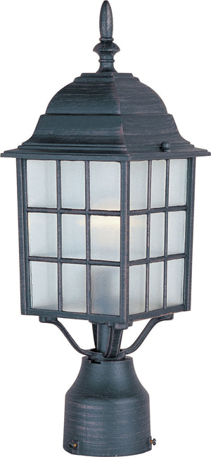 Maxim - 1052RP - One Light Outdoor Pole/Post Lantern - North Church - Rust Patina
