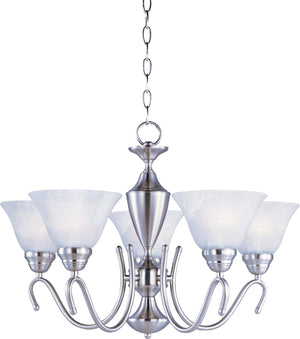 Maxim - 12063MRSN - Five Light Chandelier - Newport - Satin Nickel