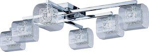 ET2 - E22836-18PC - Six Light Flush Mount - Gem - Polished Chrome
