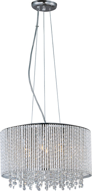 ET2 - E23135-10PC - Seven Light Pendant - Spiral - Polished Chrome
