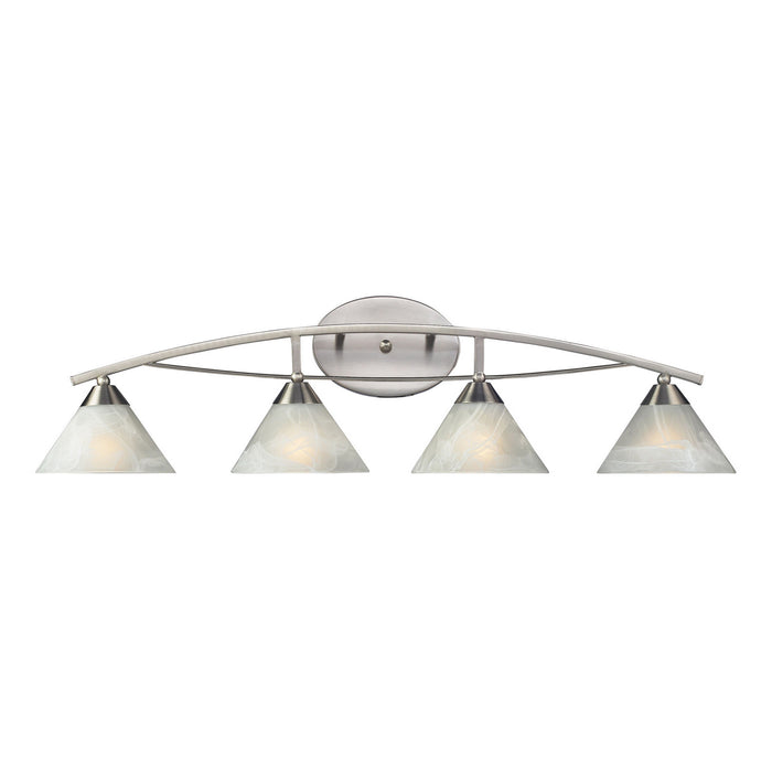 "Elk Lighting Four Light Vanity 36.00"" Satin Nickel"
