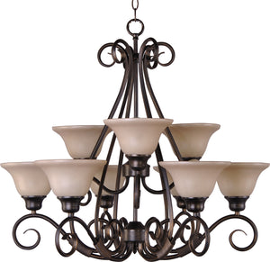 Maxim - 2658WSKB - Nine Light Chandelier - Pacific - Kentucky Bronze