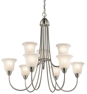 Kichler - 42885NI - Nine Light Chandelier - Nicholson - Brushed Nickel
