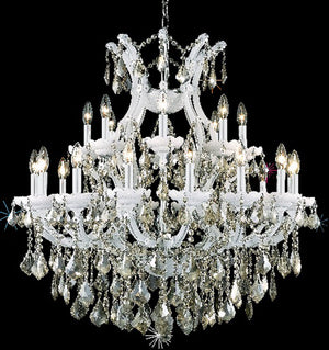 Elegant Lighting - 2800D36WH-GT/RC - 25 Light Chandelier - Maria Theresa - White