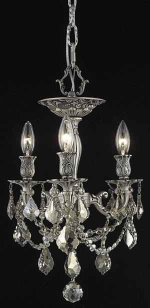 Elegant Lighting - 9203F13PW-GT/SS - Three Light Flush Mount - Rosalia - Pewter