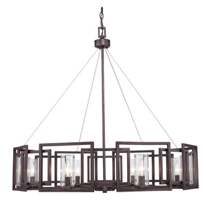 Golden - 6068-8 GMT - Eight Light Chandelier - Marco - Gunmetal Bronze
