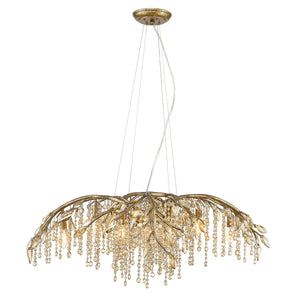 Golden - 9903-12 MG - 12 Light Chandelier - Autumn Twilight MG - Mystic Gold