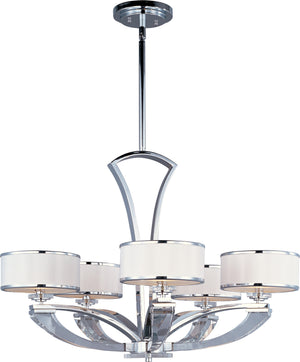 Maxim - 39825BCWTPC - Five Light Chandelier - Metro - Polished Chrome