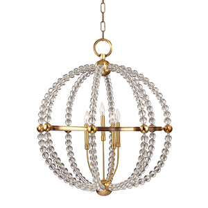 Hudson Valley - 3130-AGB - Five Light Chandelier - Danville - Aged Brass