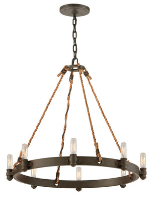 Troy Lighting - F3125 - Eight Light Pendant - Pike Place - Shipyard Bronze