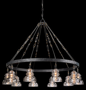 Troy Lighting - F3137 - Ten Light Chandelier - Menlo Park - Old Silver