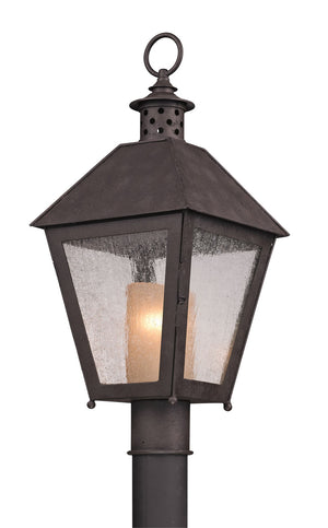 Troy Lighting - P3295 - One Light Post Mount - Sagamore - Centennial Rust