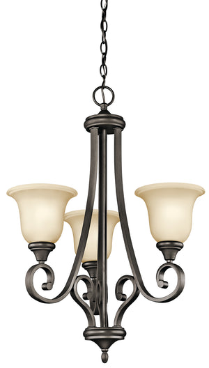 Kichler - 43155OZ - Three Light Chandelier - Monroe - Olde Bronze