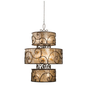 Kalco - 5411AC - 12 Light Foyer Pendant - Windsor - Antique Copper