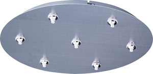 ET2 - EC95018-SN - Seven Light Canopy - RapidJack Xenon - Satin Nickel