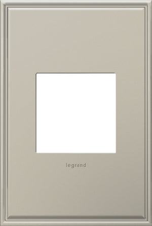 Legrand - AWC1G2AN4 - 1-Gang Wall Plate - Cast Metals - Antique Nickel