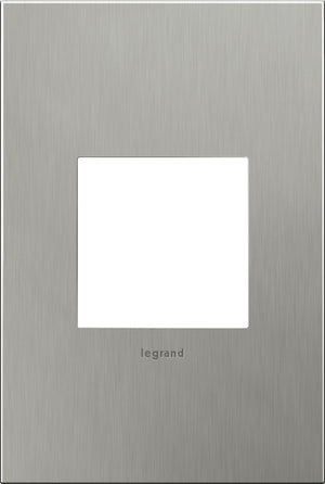 Legrand - AWC1G2BS4 - 1-Gang Wall Plate - Cast Metals - Brushed Stainless Steel