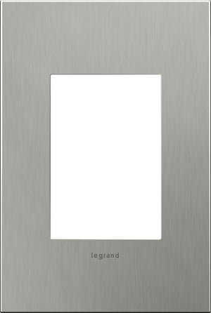 Legrand - AWC1G3BS4 - 1-Gang Wall Plate - Cast Metals - Brushed Stainless Steel