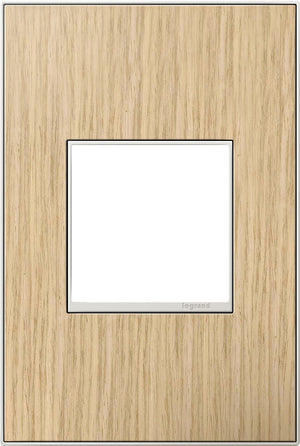 Legrand - AWM1G2FH4 - 1-Gang Wall Plate - Real Materials - French Oak