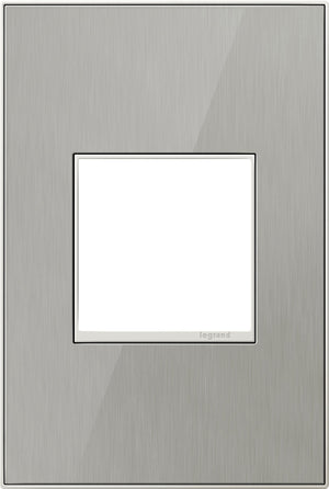 Legrand - AWM1G2MS4 - 1-Gang Wall Plate - Real Materials - Mirror Brushed Stainless