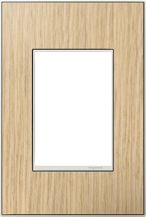 Legrand - AWM1G3FH4 - 1-Gang Wall Plate - Real Materials - French Oak