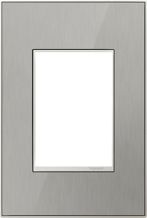 Legrand - AWM1G3MS4 - 1-Gang Wall Plate - Real Materials - Mirror Brushed Stainless