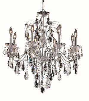 Elegant Lighting - 2016D26C/EC - Eight Light Chandelier - St. Francis - Chrome