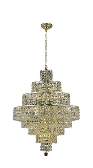 Elegant Lighting - 2039D26G/SS - 18 Light Chandelier - Maxime - Gold