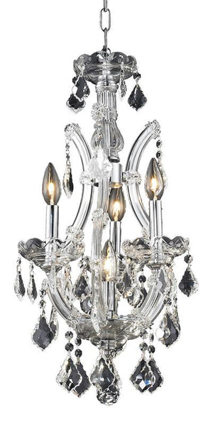 Elegant Lighting - 2800D12C/SA - Four Light Pendant - Maria Theresa - Chrome