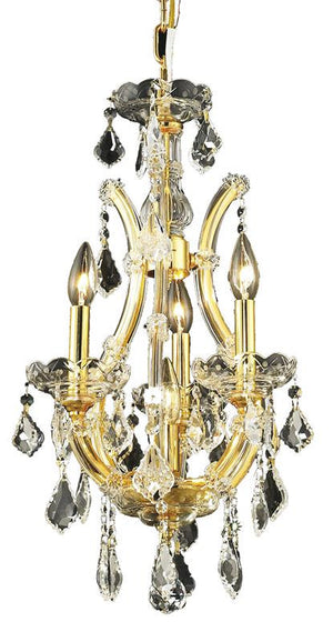 Elegant Lighting - 2800D12G/SS - Four Light Pendant - Maria Theresa - Gold