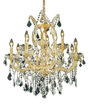Elegant Lighting - 2800D27G/SA - 13 Light Chandelier - Maria Theresa - Gold