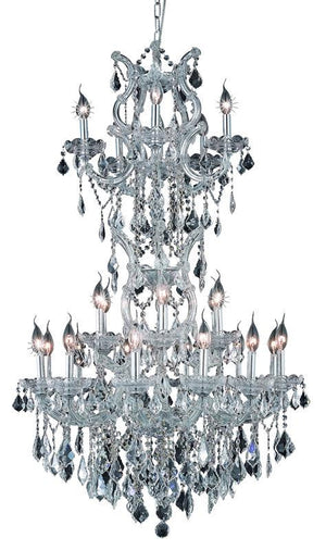 Elegant Lighting - 2800D30SC/EC - 25 Light Chandelier - Maria Theresa - Chrome