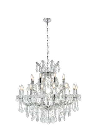 Elegant Lighting - 2800D36C/EC - 24 Light Chandelier - Maria Theresa - Chrome