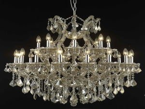 Elegant Lighting - 2800D36GT-GT/RC - 24 Light Chandelier - Maria Theresa - Golden Teak