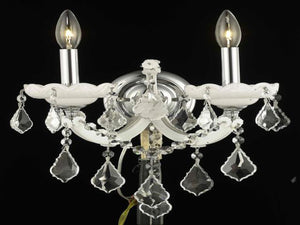 Elegant Lighting - 2800W2WH/RC - Two Light Wall Sconce - Maria Theresa - White