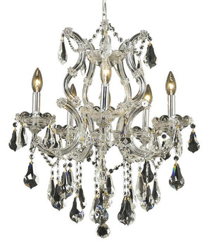 Elegant Lighting - 2801D20C/RC - Six Light Chandelier - Maria Theresa - Chrome
