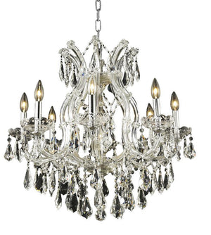 Elegant Lighting - 2801D26C/SS - Nine Light Chandelier - Maria Theresa - Chrome