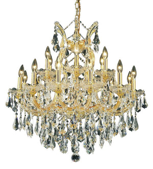 Elegant Lighting - 2801D30G/RC - 19 Light Chandelier - Maria Theresa - Gold