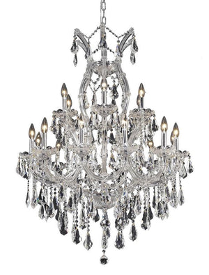 Elegant Lighting - 2801D32C/RC - 19 Light Chandelier - Maria Theresa - Chrome