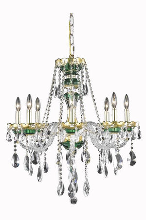 Elegant Lighting - 7810D26GN/SA - Eight Light Chandelier - Alexandria - Green